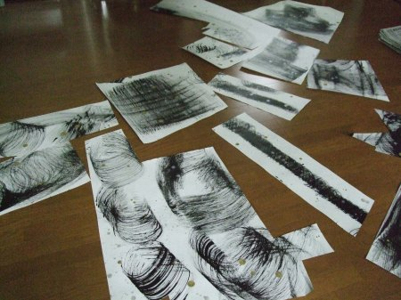 Cut papers for Untitled No.21
