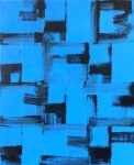 Black and Blue Paintings on January 2,2021